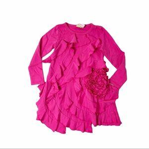 Lemon Loves Lime pink ruffle dress